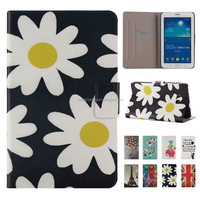 100% Perfect Fit Tablet Galaxy Tab 3 Lite T111 Leather Case, for Samsung Galaxy T111 Stand Case