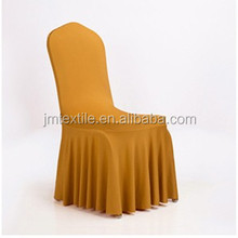 wedding banquet hotel home garden nuiversal ruffled skirt spandex chair cover