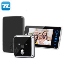 OEM peephole camera rechargeable battery wireless door phone intercom video door phone along with door lock release TL-E701A