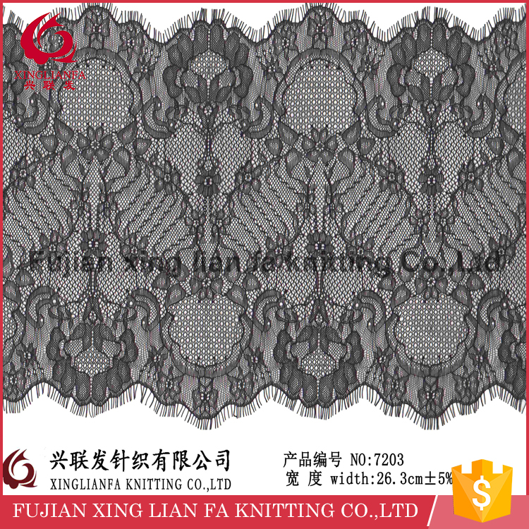 1.5yards /26.3cm width eyelash lace wedding dress making lace fabric