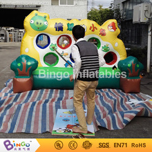 Playground funny game inflatable bird football shooting machine