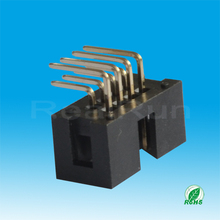 Board To Board Shrouded 2.54mm Right Angle Box Header