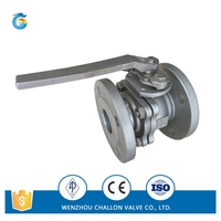 Stainless steel 2pc ball valve flanged end DIN PN16/40