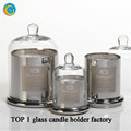 Sliver Candle Jar with Dome Cover Decoration