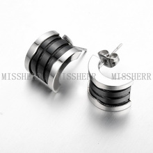 High Quality fashion Jewelry half circle shaped Stud Earrings SCE002