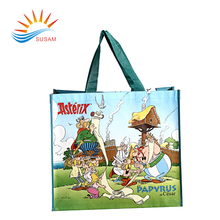 Custom logo printed die cut handle non woven carry shopping bag