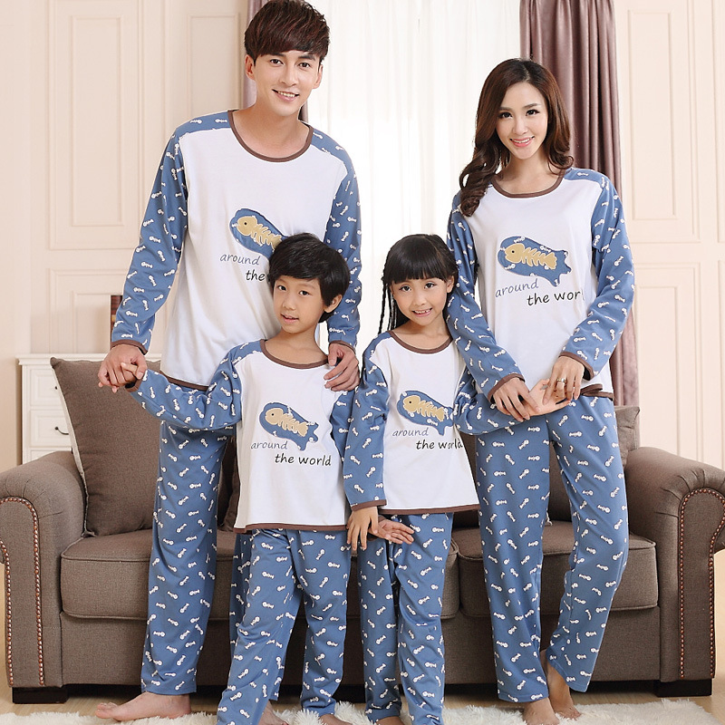 Family Knitted Fabric Cotton Thai Pajamas From Online Retail Store