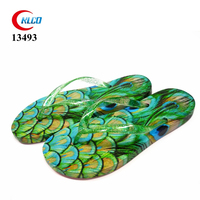 cheap women fancy printing beach flip flops eva slipper