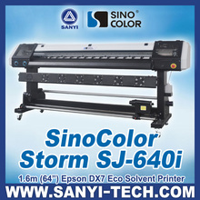 Poster Printer with Epson DX7 Printhead, SinoColor SJ-640i, 1.6m, 1440dpi