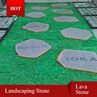 lava paving garden foot stepping stone