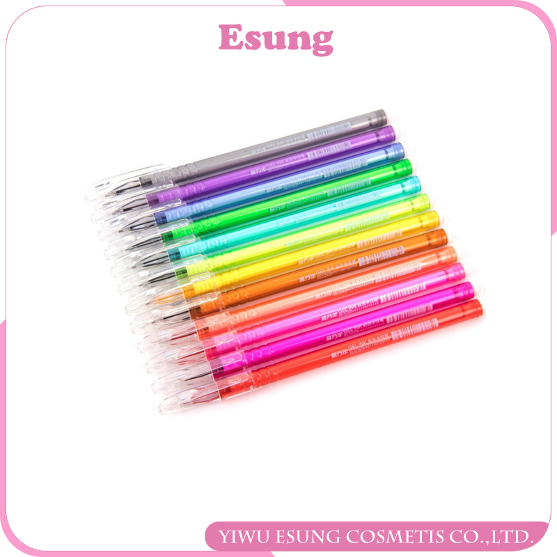 High Quality 0.5MM 12 Colors Colorful Head Fine Line Gel Pen Sketch Art Markers Pen for Sketching Drawing Writing Art Supplies