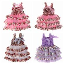2016 New Baby Clothing One Piece Girls Party Dresses For Lace Dress Frock designs One year baby party dresses