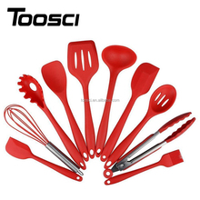 10pcs Eco-friendly High Quality Health Food Grade Silicone Cookware Sets Kitchen