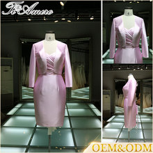 Chinese wedding dress groom mother of the bride dress with jacket and bandage design
