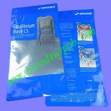factory custom printed ziplock clear/aluminum garment and underwear packaging bag