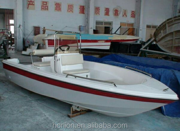 Cheap price 8 person capacity FRP fiberglass sport fishing boat for sale