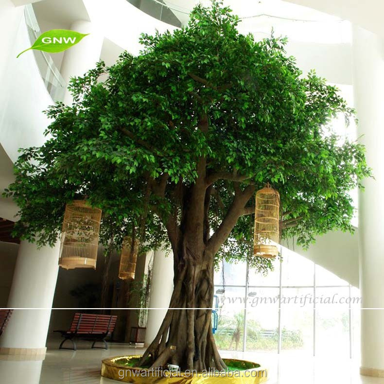 Large Outdoor Artificial Trees Plastic Banyan Trees for Landscap Enviromental Friendly Material