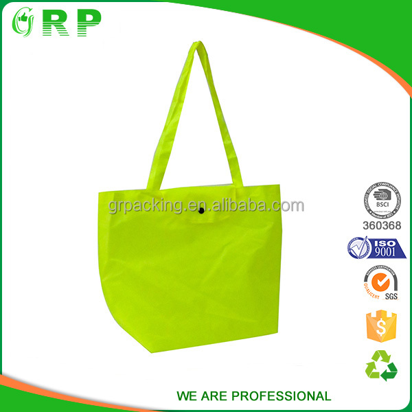 Fashionable promotion foldable take things polyester shopping bags
