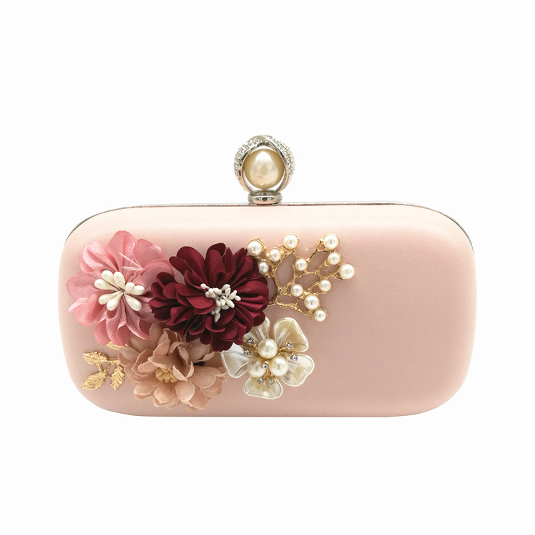 Elegant 3D Floral Bead Ladies Evening Clutch Bag For Daily Life Party Dinner