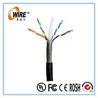 OWIRE 23AWG Solid Bare Copper Conductors twist pair multi core Outdoor schneider Rated CAT6 UTP lan cable