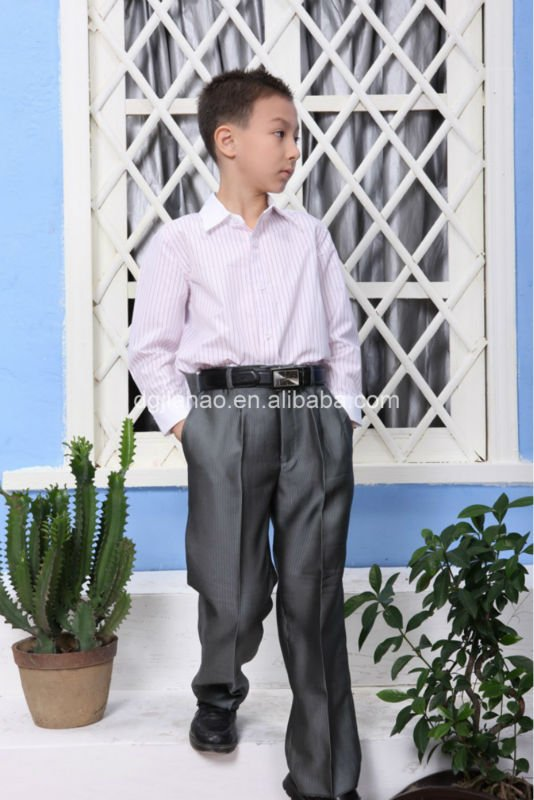 best selling eco-friendly polyester /cotton boys satin shirts