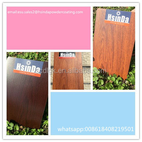 wood polyester transfer finish sublimation powder coating