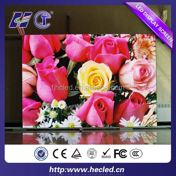 High quality p6 indoor mini led display full xx vedio