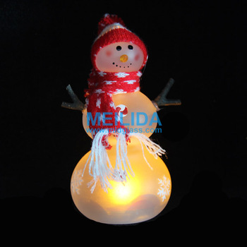 LED glass snowman for Christmas decoration