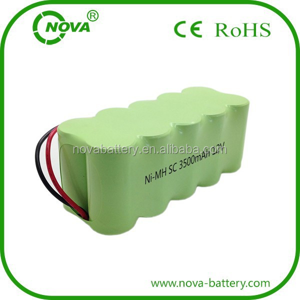 batteries sub c 12v 3500mah ni-mh rechargeable battery packs