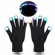 Wholesale festival party supplies Multi Color Changing Led Light Up Magic Party Gloves For Kids