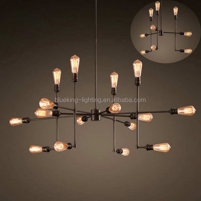Unique design pendant light Vintage industrial iron art led Ceiling light decoration lighting