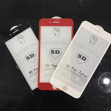 2017 NEW Mobile Phone Screen Protector High Quality 5D Full Cover Glass Films Tempered Glass Screen Protector for iphone 7
