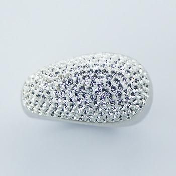 Exciting Electroformed Sterling Silver Austrian Crystals Ring