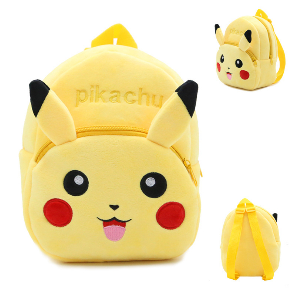 Pokemon 32x26x7 cm Plush <strong>Backpack</strong> for Girls Boys Kindergarten <strong>Backpack</strong> Pokemon Baby Kids School <strong>Backpack</strong> 3D Anime Children's bag
