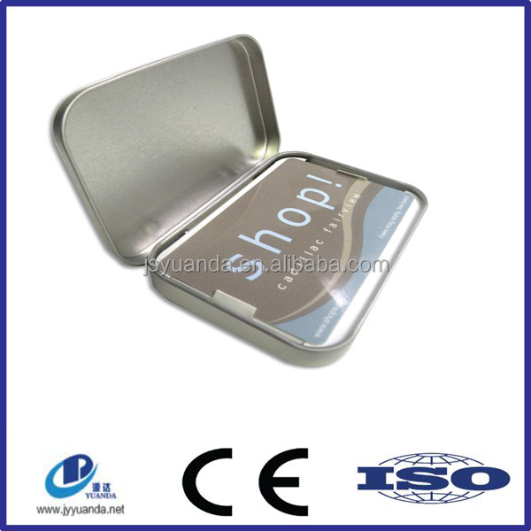 Custom printed rectangular tin box/exquisite business card tin box