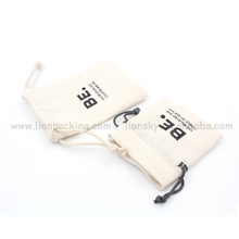 Wholesale Cotton Linen Pouch Drawstring Bag for Gift Packing