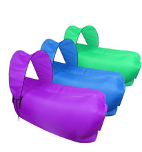 New arrvial inflatable lounger air lazy sofa bed chair waterproof with carry bag