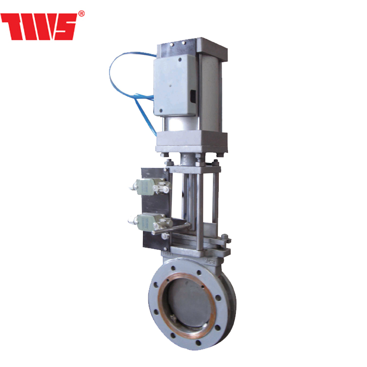 DN 50~DN2000 WCB/STAINLESS STEEL Pneumatic knife gate valve