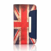 Flag Pattern Leather Case For Samsung Galaxy A7, For Samsung A7 Flip Wallet Case