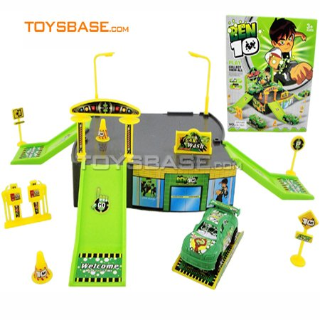 plastic toy set , Ben10 toy , parking toy