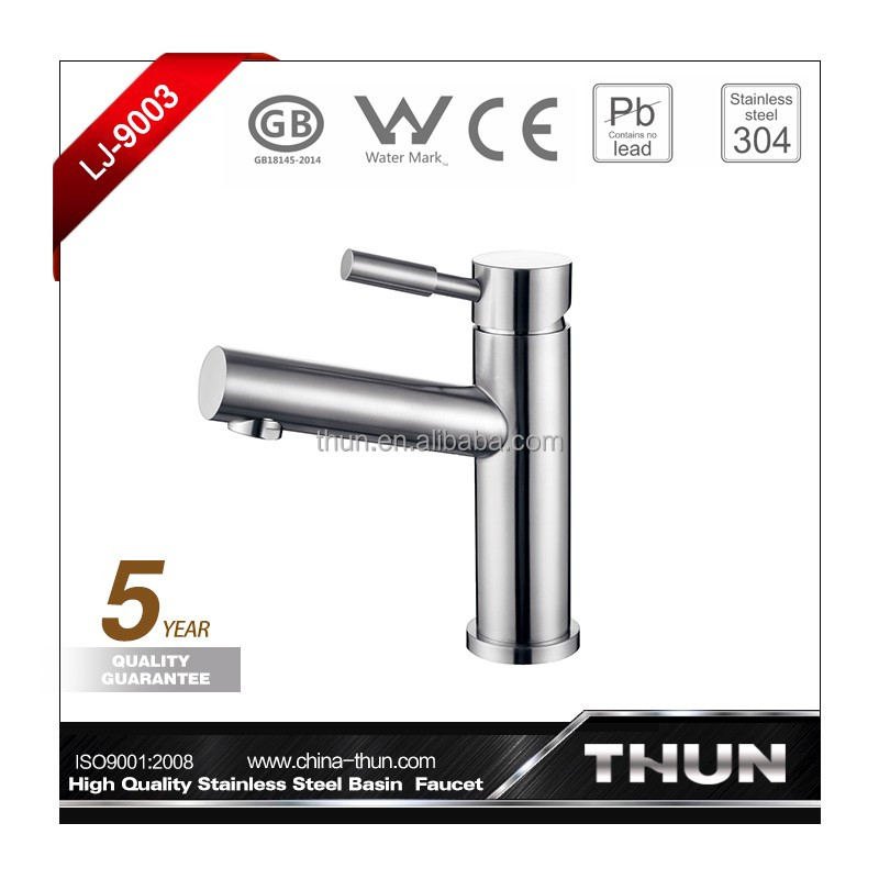 Brushed-plated single handle bathroom basin taps