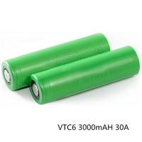 Hot selling in Europe market genuine us18650 vtc6 li-ion battery 30A 18650 batterie