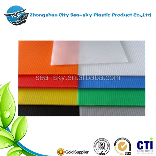 High Quality PP plastic material Hollow Sheet/ pp material corrugated plastic sheet,fluted pp correx sheet