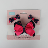 Headbands With Hair Clips Set,Ribbon Bows For Christmas Kids Hair Accessories
