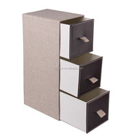 New arrival vertical cardboard drawer storage box for Christmas