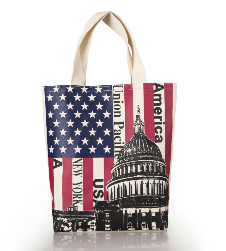 Eco friendly with beautiful printing wholesale new canvas tote bag