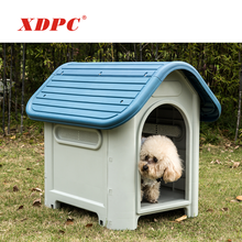 Factory direct sale cheap polypropylene plastic outdoor dog kennels house cute animal bed cage toy