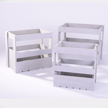 White Painted Cheap Customized Wooden Crate