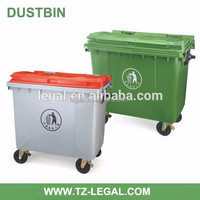 color code for plastic container 1100liter plastic garbage bin