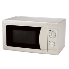 110V manual controls white plastic housing microwave oven
